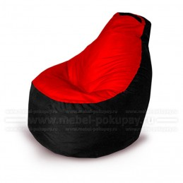 КРЕСЛО-ГРУША GRAND OXFORD BLACK RED
