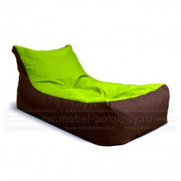 КУШЕТКА RELAX ОКСФОРД ШОКОЛАД-ЛАЙМ OXFORD BROWN LIME