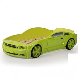 """Кровать-машина """"Мустанг"""" 3D зеленый"""