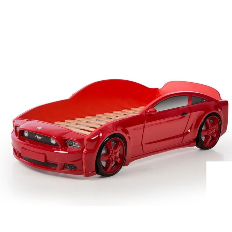 """Кровать-машина """"Мустанг"""" 3D красный"""