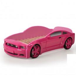 """Кровать-машина """"Мустанг"""" 3D розовый"""