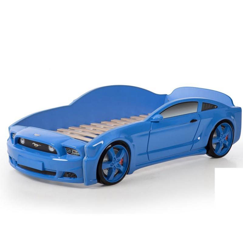 """Кровать-машина """"Мустанг"""" 3D синий"""