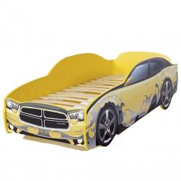 """Кровать-машина LIGHT """"Додж"""" желтый"""