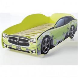 """Кровать-машина LIGHT """"Додж"""" зеленый"""