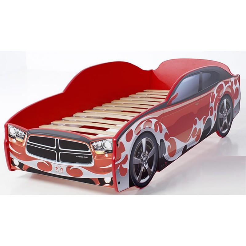 """Кровать-машина LIGHT """"Додж"""" красный"""