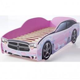 """Кровать-машина LIGHT """"Додж"""" розовый"""
