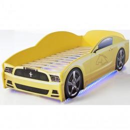 "Кровать-машина LIGHT ""Мустанг"" желтый"