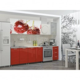 """Кухня """"Черешня МДФ"""" 2 м, с фотопечатью"""