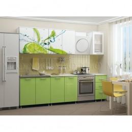 "Кухня ""Лайм МДФ"" 2 м, с фотопечатью"