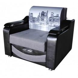 """Кресло-кровать """"Лидер-3"""", Набережная серая"""