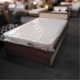 """Кровать """"Гармония"""" 1,2 м с матрасом, ясень"""