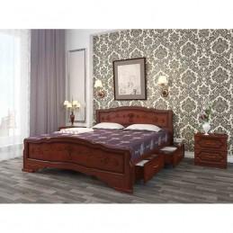 """Кровать """"Карина-6"""", Орех, 0,9 м, с ящиками"""