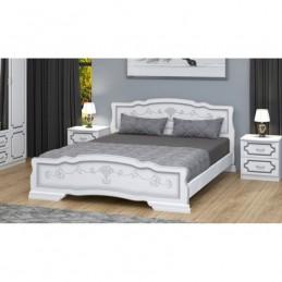 """Кровать """"Карина-6"""", Белый жемчуг 1,2 м"""