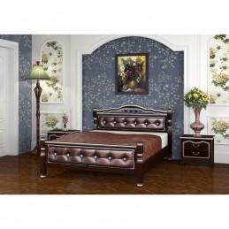 """Кровать """"Карина-11"""" 1,2 м, орех темный бриллиант"""