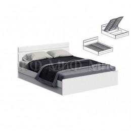 """Кровать """"Нэнси NEW"""" с ПМ 1,4 м МиФ Белый глянец"""