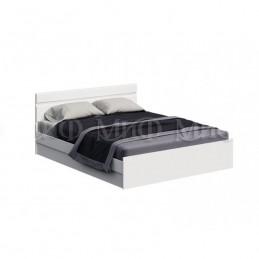 """Кровать """"Нэнси NEW"""" 1,4 м МиФ Белый глянец"""