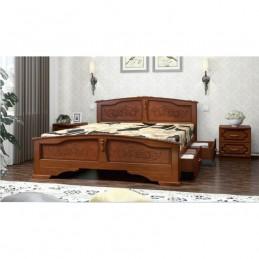 """Кровать """"Елена"""", орех 1,4 м, с ящиками"""
