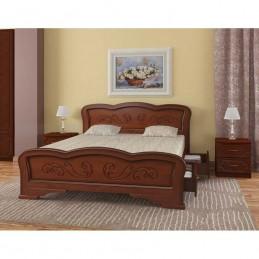 """Кровать """"Карина-8"""", Орех, 1,4 м, с ящиками"""