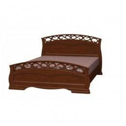 """Кровать """"Грация-1"""" Орех 1,4 м"""