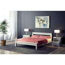 """Кровать """"Ева"""", белый 1,4 м"""