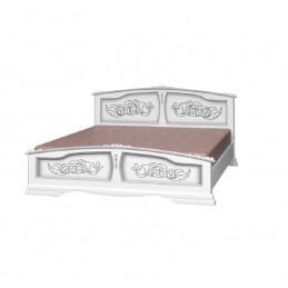 """Кровать """"Елена"""" белый жемчуг 1,4 м"""