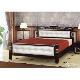 """Кровать """"Карина-11"""" 1,4 м, орех темный"""