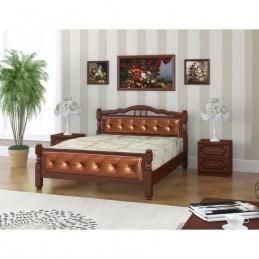 """Кровать """"Карина-11"""" 1,4 м, орех"""