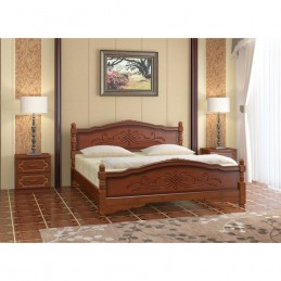 """Кровать """"Карина-12"""" Орех 1,4 м"""