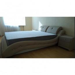 """Кровать """"Аврора"""" металлокаркас с подъемным механизмом 140 см, бежевый"""