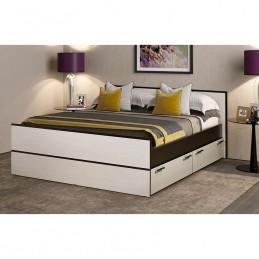 """Кровать """"Фиеста-19"""" 1,6 м с выдвижными ящиками, без матраса"""