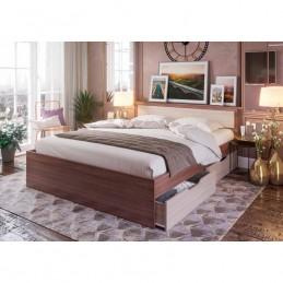 """Кровать """"Гармония"""" 1,6 м с матрасом, ясень"""