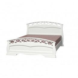 """Кровать """"Грация-1"""" Античный белый 1,6 м"""