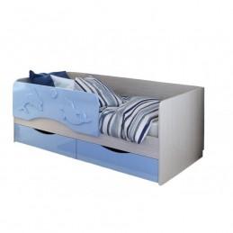 """Детская кровать с матрасом """"Алиса-2 СТ"""" голубая"""