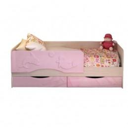 """Детская кровать с матрасом """"Алиса-4 СТ"""" Розовая"""