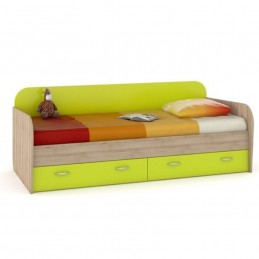 """Кровать-чердак """"Ника 424"""" Лайм зелёный"""
