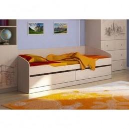 """Кровать без фотопечати КР-002 """"Мийа 3А"""", дуб молочный"""