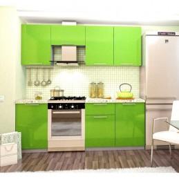 """Кухня """"Олива"""" Зелёный металлик"""