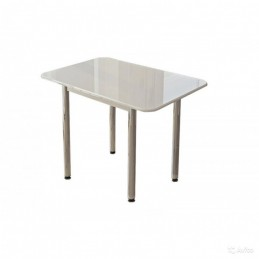 "Обеденный стол ""Белый глянцевый"""