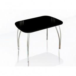 """Стол обеденный """"Агат"""" 100 см со стеклом"""