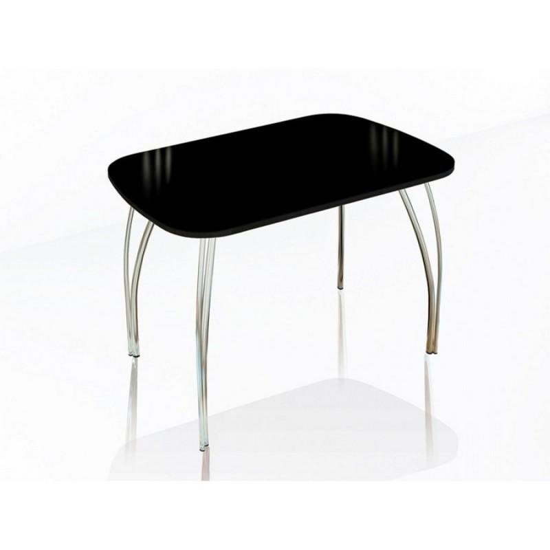 """Стол обеденный """"Агат"""" 110 см со стеклом"""