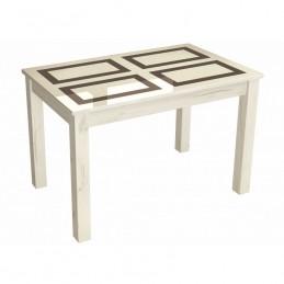 """Стол обеденный нераскладной """"Норман"""" Белый, рисунок """"Плитка"""" 100х60 см"""