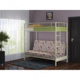 """Двухъярусная кровать с диваном """"Мадлен"""" бежевый"""