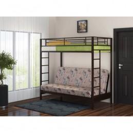 """Двухъярусная кровать с диваном """"Мадлен"""" коричневый"""