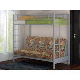 """Двухъярусная кровать с диваном """"Мадлен"""" серый"""