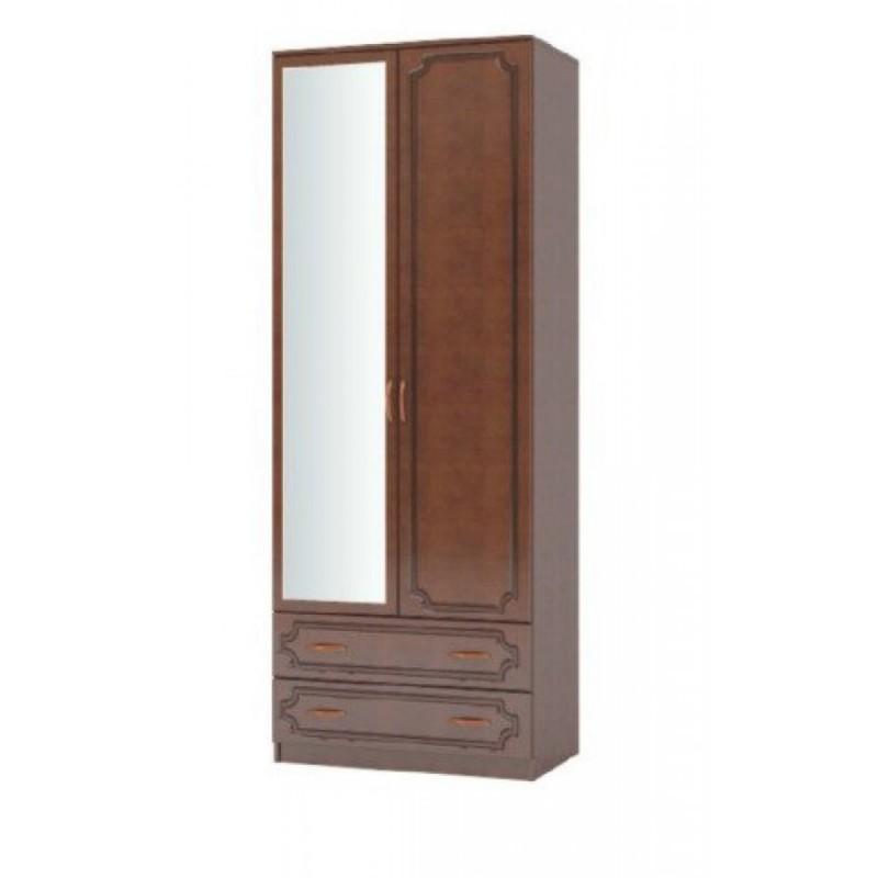 """Шкаф 2-дверный ШР-2 """"Лакированный"""" + зеркало"""