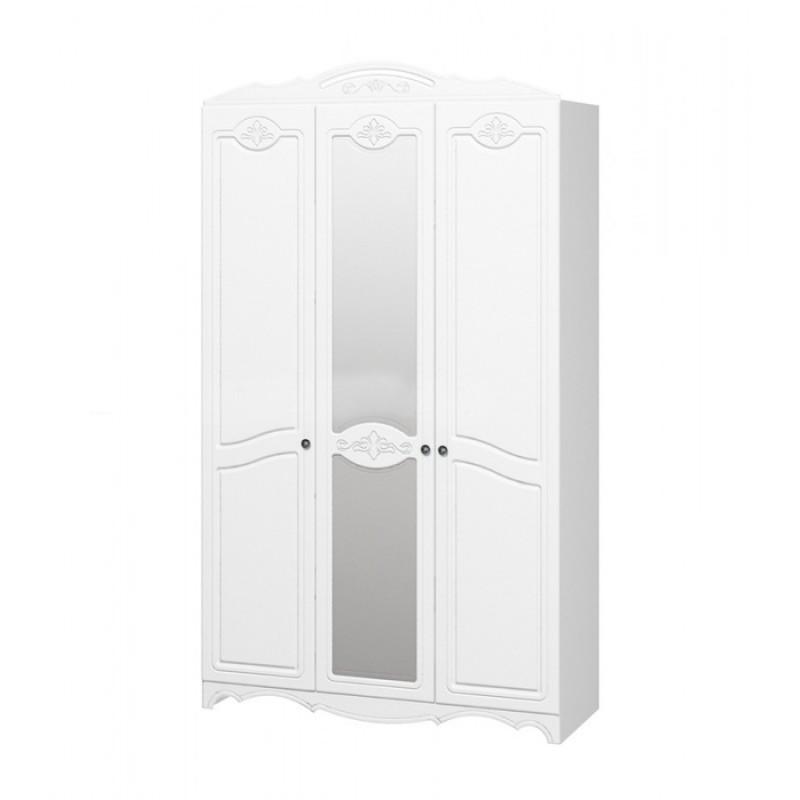 """Шкаф распашной 3-х дверн """"Лотос МДФ"""" Белый"""
