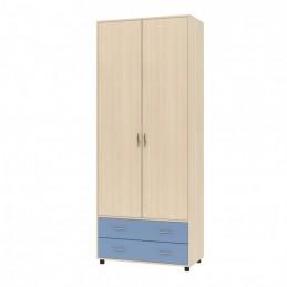 """Шкаф для одежды """"Дельта-4"""" дуб/голубой"""