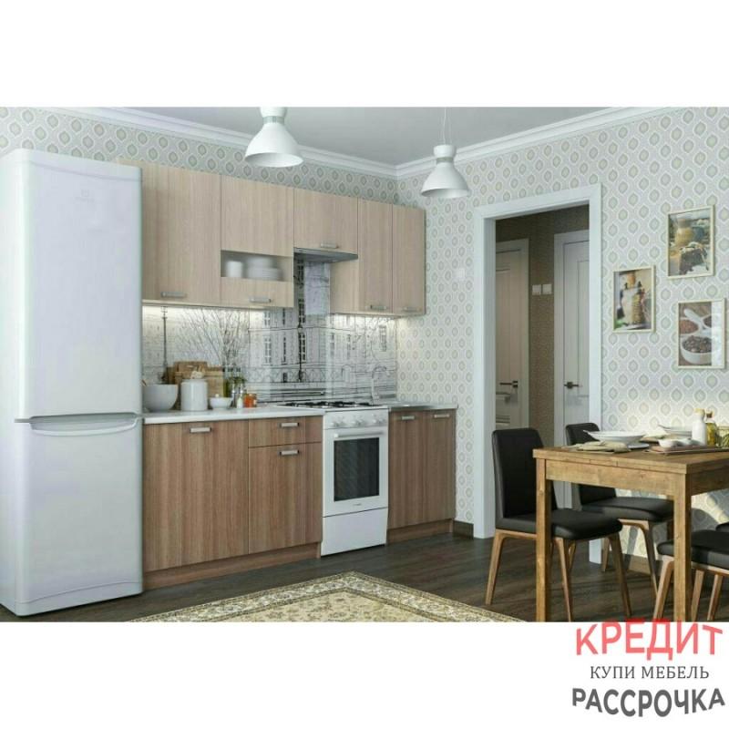 """Кухня """"Роза"""" 2,2 м-1,7 м Ясень шимо темный/светлый"""