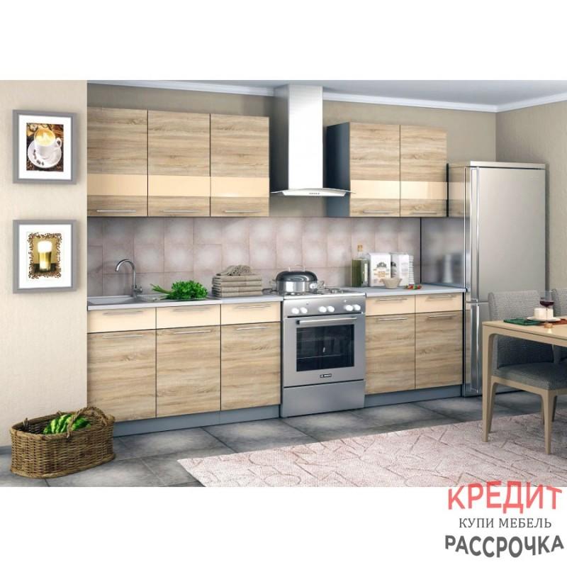 """Кухня """"Олеся"""" Дуб Сонома 2 метра"""