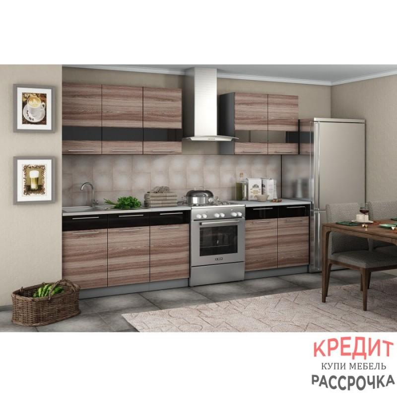 """Кухня """"Олеся"""" Ясень Шимо темный 2 метра"""